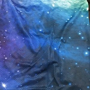 face mask Accessories - Teal Galaxy Mask Gaiter Scarf w/ Ear Loops ✨